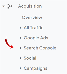 add search console to google analytics